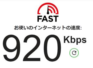 ADSLでの通信速度